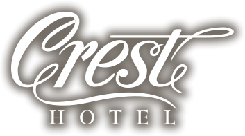Crest hotel logo with shadow