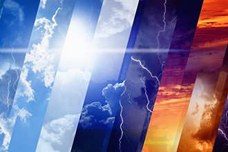Abstract image of different types of weather