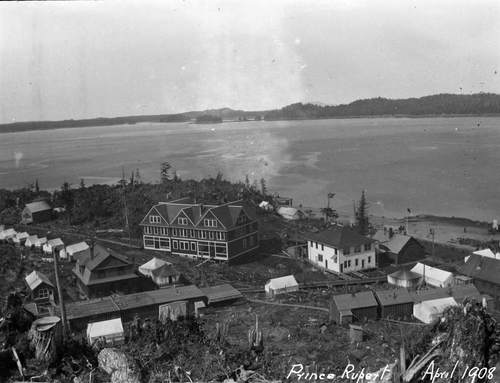 Black and white image of Pacific Inn, 1908