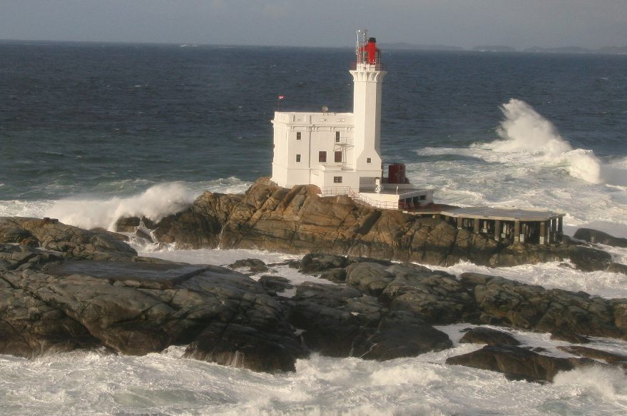 Lighthouse on a rocky outlet