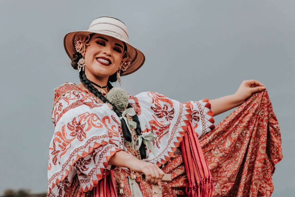 Mexican woman in traditional dress