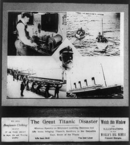 News Clipping about Titanic Disaster with images